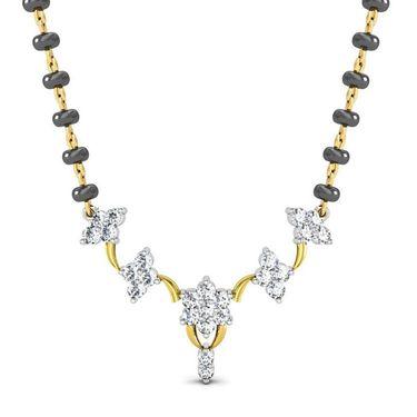 Avsar Real Gold & Swarovski Stone Channai Mangalsutra_Avm077yb