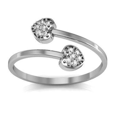 Avsar Real Gold & Swarovski Stone Minakshi Ring_A029wb