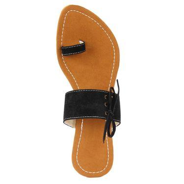 Azores Womens Black Sandals -Azf_Dblk