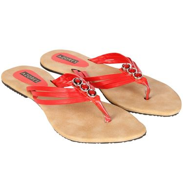 Azores Womens Red Sandals -Azf_Gr