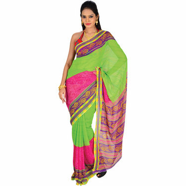 Aaradhya Set of 7 Georgette Sarees - AKSO