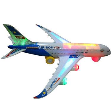 Airbus Toy Aeroplane with Flashing Lights & Music