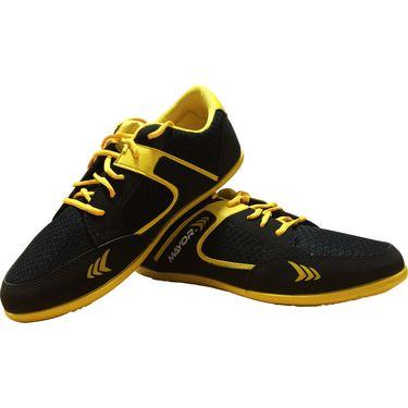Mayor  Amaze Black, Yellow Shoes - 6