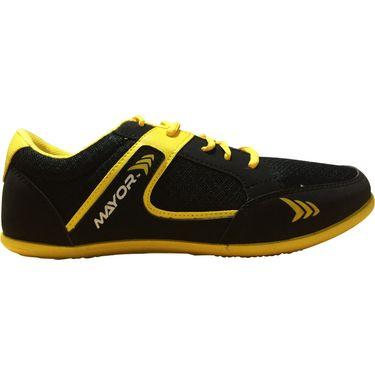 Mayor  Amaze Black, Yellow Shoes - 10