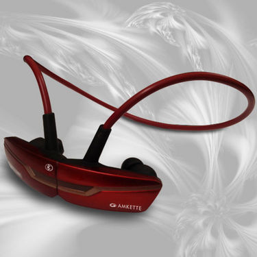 Amkette Trubeats Slix Bluetooth Headset - Red