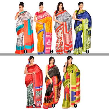 Anamika Set of 7 Art Silk Sarees by Pakhi (7A9)