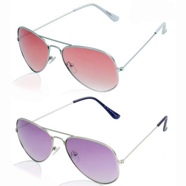 Pack of 2 Aoito Aviator Sunglasses_AO-38ORGBLA64 + AO-36PURPLEA17