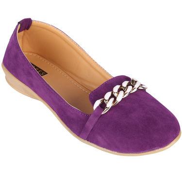 Azores Womens Purple Ballerina -Azf_4P