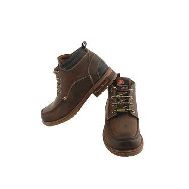 PU  Brown  Boot -ntb10