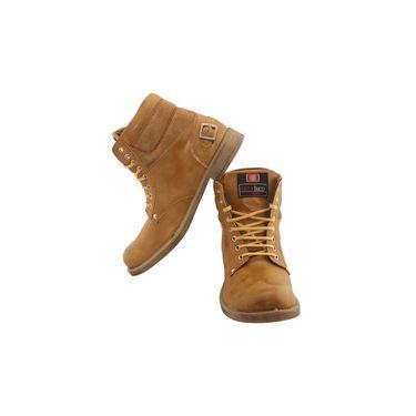 PU  Tan  Boot -ntb15