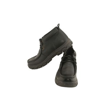 Leather  Black  Boot -ntb18