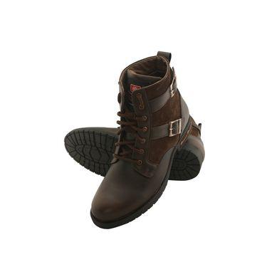 PU  Brown  Boot -ntb07