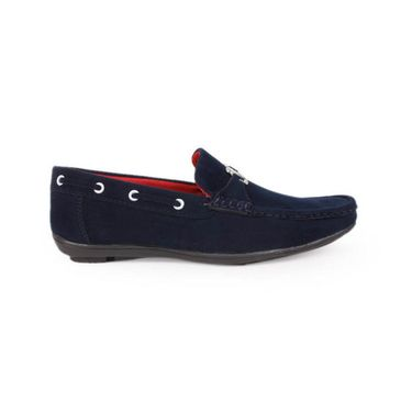 Bacca Bucci PU Navy Blue Loafers -Bbmc4022N
