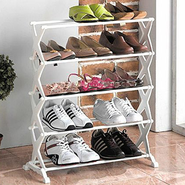 BD Stylish & Portable Shoe Rack With 5 Layer - White