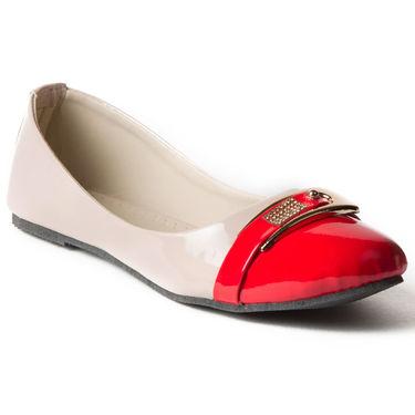 Branded Patent Ballerinas BLS-003-RD