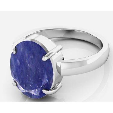 Kiara Jewellery Certified Neelam 3.0 cts & 3.25 Ratti Blue Sapphire Ring_Bsrw