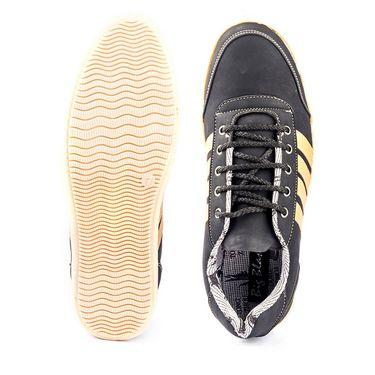 Kohinoor Footwears Nubuck Leather Casual Shoes BT091_Black