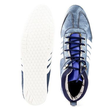 Kohinoor Footwears Suede Leather Casual Shoes BT095_Blue