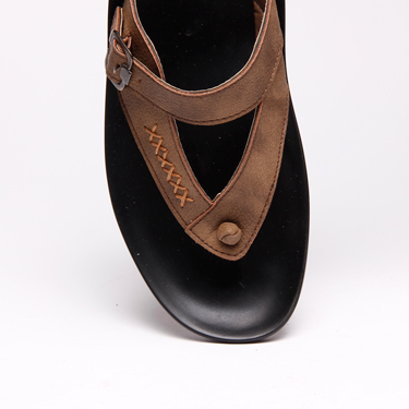 Bacca bucci Faux Leather Slippers - Brown-3088