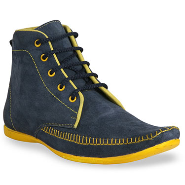 Bacca bucci  Leather  Boots - Blue & Yellow