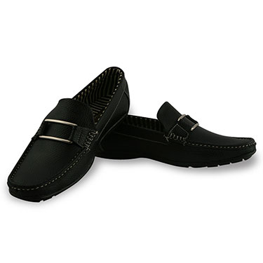 Bacca bucci  Faux Leather Loafers - Black-5658