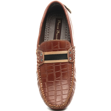 Bacca bucci Faux Leather Loafers - Tan-3713