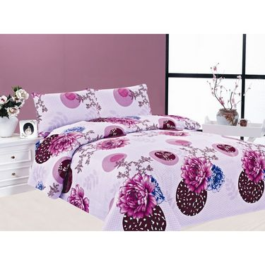 Carah Pack of 2 Bedsheets With Four Pillow Covers-CRH-DB183