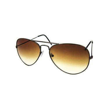 Unisex Aviator Sunglasses_Bes020 - Olive Brown