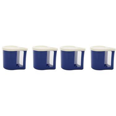 Kitchen Duniya Set Of 4 Bliss Coffee Mugs-Electric Blue
