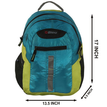 Kids Back To School 17inch Bagpack Combo For Boys Blue & Lime - CB1402