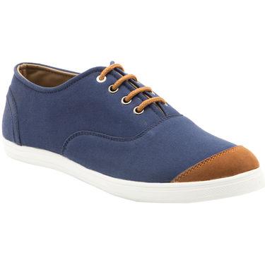 Randier Canvas Blue & Tan Canvas Shoes -Cfl008