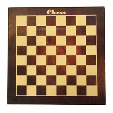 AVM 12inch Laminated MDF Flat Chess Board (0.25 inch Border, Brown Yellow)