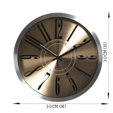 Beautiful Gold Shade Round Analog Wall Clock