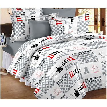 Set Of 2 Double Bedsheet With 4 Pillow Cover-CN_1229-CN1405