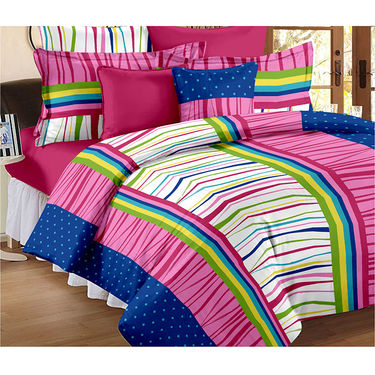 Set Of 2 Double Bedsheet With 4 Pillow Cover-CN_1266-CN1268