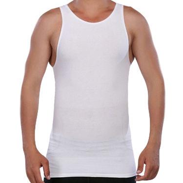 Pack of 2 Clovia Blended Cotton Vests For Men_Combo 1 - Grey & White