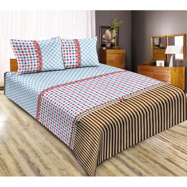 Exclusive Pack of 4 Bedsheets with 8 Pillow Covers-CRH-DB387