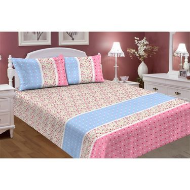 Carah Exclusive Mosquito Repellent Double Bedsheet With 2 Pillow Covers -CRH-DB398