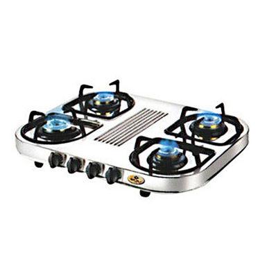 Bajaj Steel Body 4 Burner Gas Cooktop-CX10