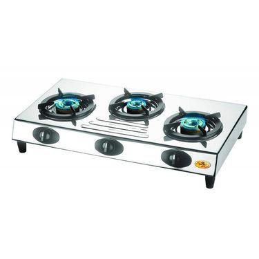 Bajaj Steel Body 3 Burner Gas Cooktop-CX9