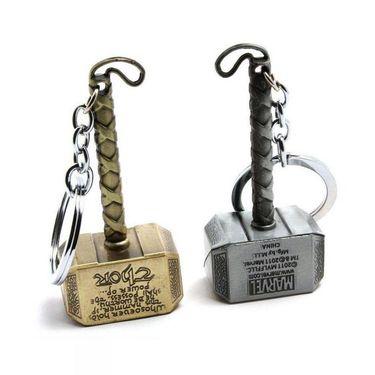 Thegrowstore Marvel Avengers Thor Hammer Metal Key Chain - Pack of 2
