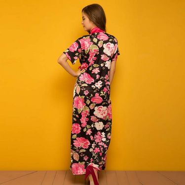 Clovia polysatin Printed and solid Plain Nightwear - Assorted - NSM279P99