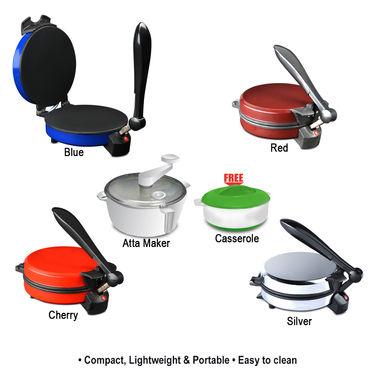 Coloured Roti and Khakra Maker + Atta Maker with Free Casserole