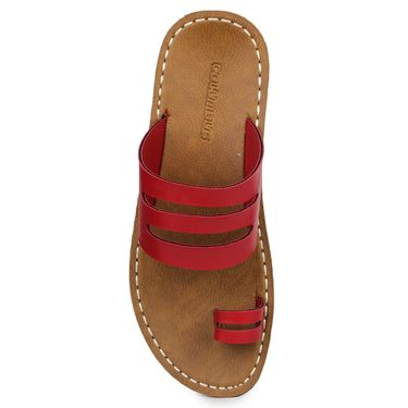 Columbus Synthetic Leather Red Sandals -2702