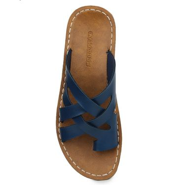 Columbus Synthetic Leather Blue Sandals -2703
