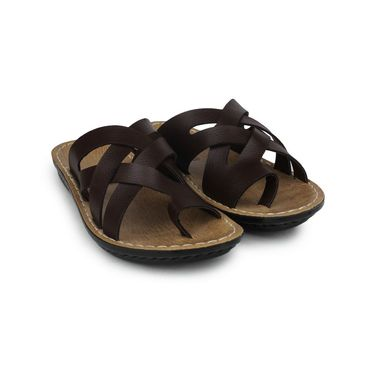 Columbus Synthetic Leather Brown Sandals -2703