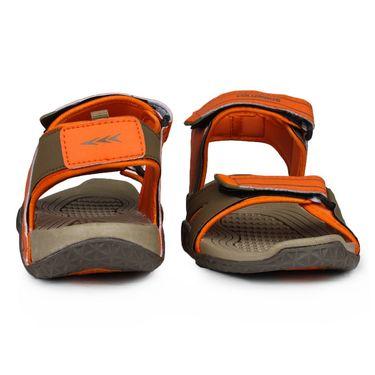 Columbus PU Brown & Orange Casual Floaters -Ab-772