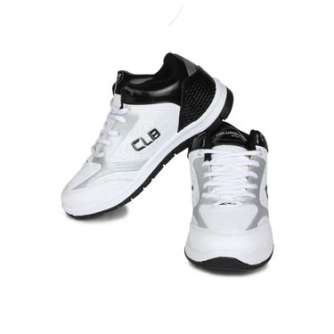 Columbus White & Black Sports Shoe C24