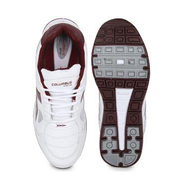 Columbus White & rust Sports Shoe C25