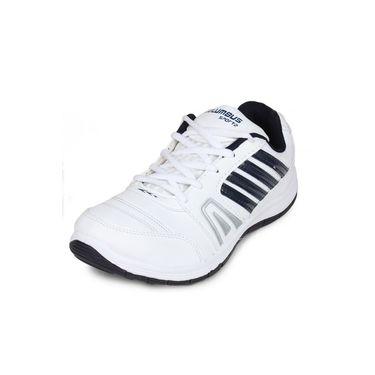 Columbus White & Navy Sports Shoe C28